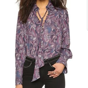 FREE PEOPLE Modern Muse Long Sleeve Blouse
